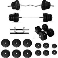 Borçinspor Halter-Dambıl Seti Z Barlı Ağırlık Seti Vücut Geliştirme Seti 88 kg