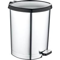 Güvenli Pazar Düz Metalize Pedallı Çöp Kovası 20 lt