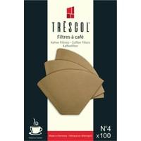 Tréscol Kahve Filtresi 4 Numara (Büyük Boy) 100 'lü Paket