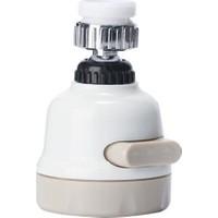 Fixer365 Oynar Başlıklı Musluk Başlığı 3 Fonksiyonlu Beyaz Tasarruflu Kubar