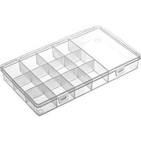 Hipaş Plastik - 13 Bölmeli Kapaklı Organizer Kutu 613 - 5 Adet