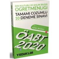 Yediiklim Yayınları 2020 KPSS ÖABT Din Kültürü Ve Ahlak Bilgisi Öğretmenliği Tamamı Çözümlü 10 Deneme Sınavı