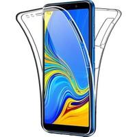 Kılfreyonum Samsung Galaxy A7 2018 Ön Arka Şeffaf 360 Derece Tam Korumalı Kılıf