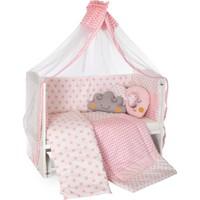Heyner 60 x 120 cm Bebek Uyku Seti Takımı 10 Parça - Pembe Yıldız