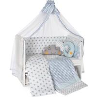 Heyner 60 x 120 cm Bebek Uyku Seti Takımı 10 Parça - Mavi Yıldız