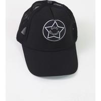 Moda Canel Güvenlik Yazlık Fileli Kep Siyah