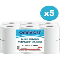 Omnisoft Mini Jumbo Tuvalet Kağıdı 5 Koli 60 Rulo