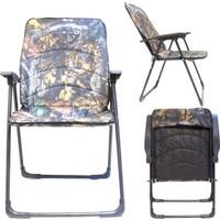 Kudos Katlanır Kollu Pedli Kamp Sandalyesi (Kamuflaj)