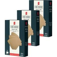Tréscol Kahve Filtresi 4 Numara Büyük Boy Naturel Kağıt 3 X 100 300'lü Paket