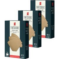 Tréscol Kahve Filtresi 2 Numara Küçük Boy Naturel Kağıt 3 X 100 300'lü Paket