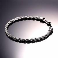 Takı Dükkanı Halat Burgulu Erkek Çelik Bileklik Künye NCK15