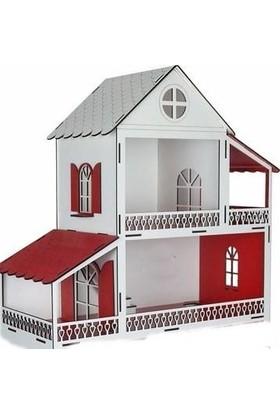 Woody Life Ahşap Oyuncak Ev Portatif Bebek Evi Lol Bebek Barbie Uyumlu 2 Katlı