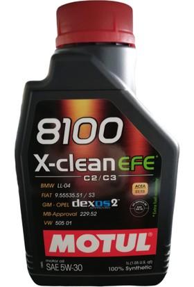 Motul 8100 X-Clean Efe 5W-30 Dexos2 C2/c3 1 lt