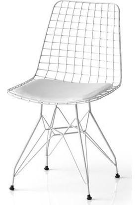 Fermasan Beyaz Tel Sandalye