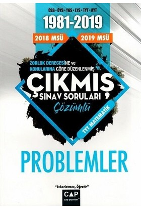 Çap Yayınları Matematik Problemler Çözümlü Çıkmış Sınav Soruları