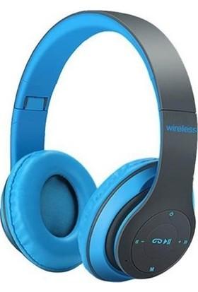 Mastek Sbees MH1 5.0 + EDR Bluetooth Kulak Üstü Kulaklık - Mavi