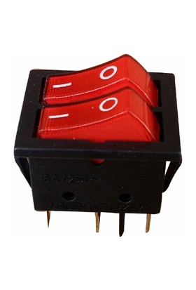 Setel Ikili Işıklı Anahtar Siyah Kırmızı 5 Ayaklı 1000'LI