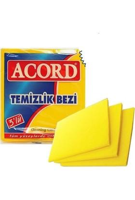 Acord Temizlik Bezi 35x40 cm 3'lü Sarı 4 Paket