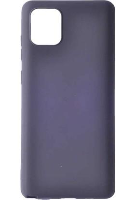 Tbkcase Samsung Galaxy A91 Kılıf Lüks Mat Silikon Siyah