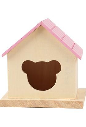 Hamster Evi Ahşap No 521-1 Pembe