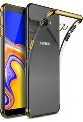 Fujimax Samsung Galaxy A91/S10 Lite Dört Köşeli Lazer Silikon - Gold