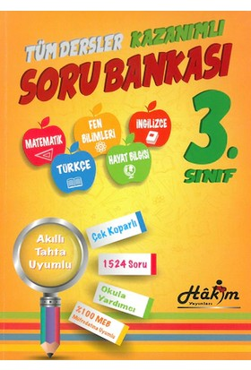 Hakim Yayınları Tüm Dersler Kazanımlı 3. Sınıf Soru Bankası