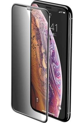 Zaks Apple iPhone 11 Pro Max - iPhone Xs Max Privacy Hayalet Cam Ekran Koruyucu Siyah