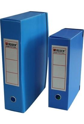 Ucgen Proje Kutusu Mavi 29X40X9 cm Boy 5 Lik Paket