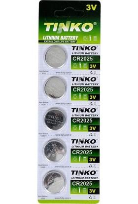 Tinko Pil 2025 Düğme Tinko S.k 2028 5'li Paket