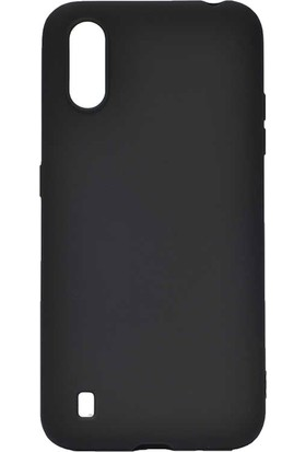 Teleplus Samsung Galaxy A01 Kılıf Lüks Mat Silikon Siyah