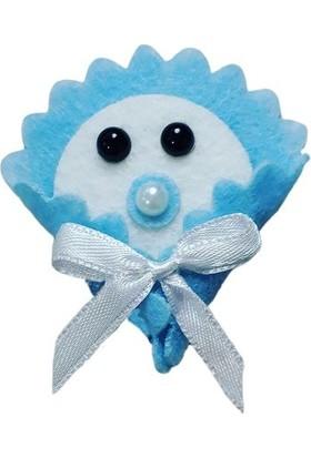 Dünya Hediye Mavi Kundak Bebek 5 x 5 cm 10'lu Paket