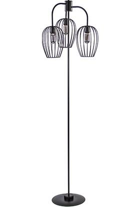Tsd Dekorasyon Metal Ayaklı Lambader Üçlü Sepet