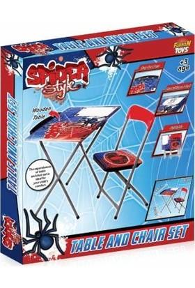 Furkan Toys Spider Style Yazı Tahtalı Masa Sandalye Seti