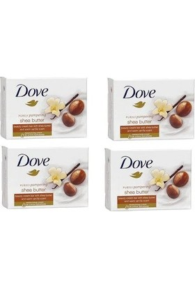 Dove Cream Bar Güzellik Sabunu Shea Butter And Vanilla Scent 100 Gr X 4