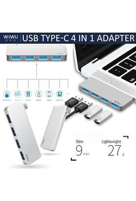 Wiwu T6S Type-C 4in1 Hub Çoğaltıcı Adaptör
