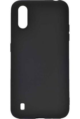 Tekno Grup Samsung Galaxy A01 Kılıf Mat Premium Silikon Kılıf Siyah
