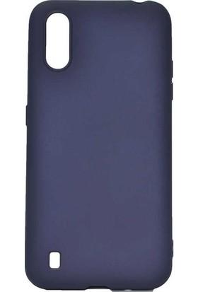 Tekno Grup Samsung Galaxy A01 Kılıf Mat Premium Silikon Kılıf Lacivert