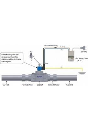Tork Ga-10 Serisi Normalde Açık Gaz Alarm Cihazı
