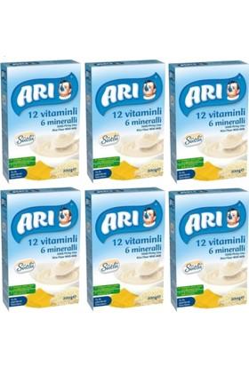 Arı Mama Pirinç Unu 200 gr Sütlü 12 Vitaminli 6 Mineralli 6'lı Set