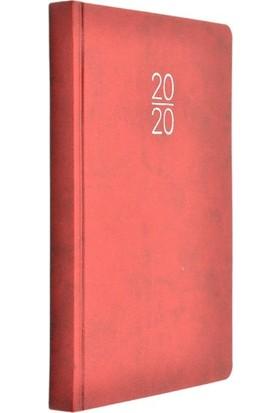 Gıpta Zero 17x24 Kırmızı Günlük Ajanda