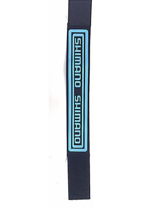 Shimano Paça Koruma Bandı Geniş Siyah / Mavi Reflektörlü