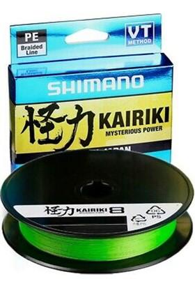 Shimano Kairiki 8 Örgü 150 Metre Ip Misina Yeşil 0.19MM