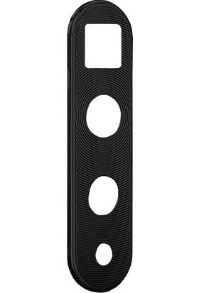 Microcase Huawei Nova 5T Kamera Lens Koruma Halkası - Kapalı Tasarım Siyah