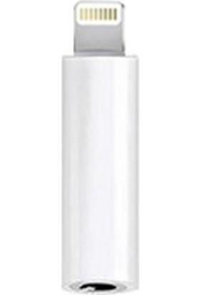 Microcase Lightning 3.5 mm Kulaklık Dönüştürücü 3.5 mm Jack Adaptör Beyaz