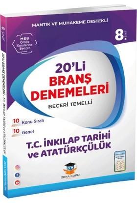 Zeka Küpü Yayınları 8.Sınıf LGS Inkilap Tarihi ve Atatürkçülük 20' li Branş Denemeleri