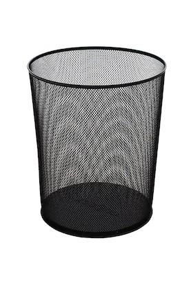 DRT Metal Çöp Kovası Delikli Siyah