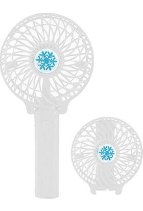 Polygold Şarjlı El Vantilatör + Mini Masa Üstü Fan Soğutucu - Beyaz