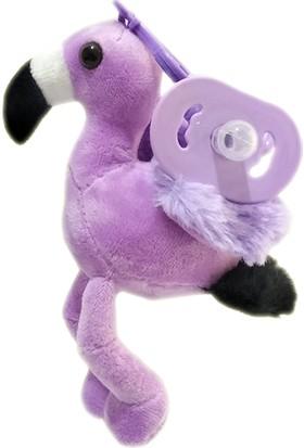 Play Seba Sevimli Mor Flamingo Peluş Emzik - Uyku Arkadaşı Emzik