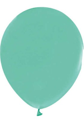 Balonevi Metalik Su Yeşili Balon 12 Inch 10'lu