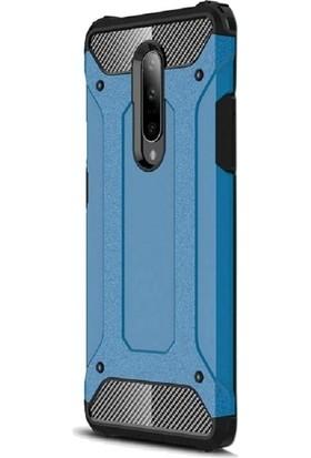 Gpack OnePlus 7 Pro Kılıf Crash Tank Çift Katman Koruyucu Mavi